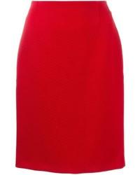 Lanvin Ribbed Pencil Skirt