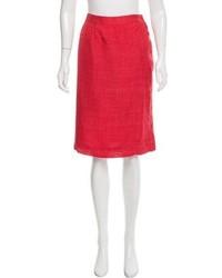 Balenciaga Linen Pencil Skirt