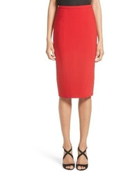 Michael Kors Michl Kors Stretch Pebble Crepe Pencil Skirt