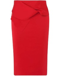 Dorothy Perkins Red Bow Scuba Pencil Skirt