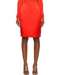 Lanvin Red Pencil Skirt