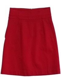 Theory Red Pencil Skirt