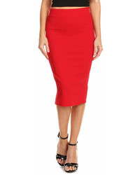 Red Pencil Skirt Plus