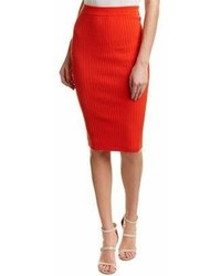 Rebecca Taylor Ribbed Pencil Skirt