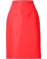 Oscar de la Renta Straight Midi Skirt