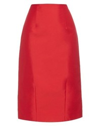 Oscar de la Renta Techno Cotton Blend Pencil Skirt
