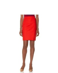 The Limited Slant Seam Pencil Skirt Red 4