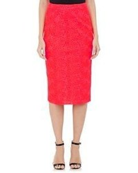 A.L.C. Towner Pencil Skirt Red