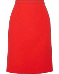 Oscar de la Renta Wool Blend Pencil Skirt