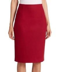 Escada Wool Cashmere Pencil Skirt