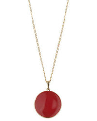 Dorothy Perkins Circular Red Pendant Necklace