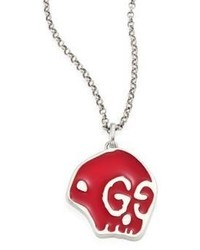 Gucci Ghost Sterling Silver Skull Pendant