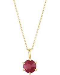 Ippolita Rock Candy 18k Mini Composite Ruby Pendant Necklace