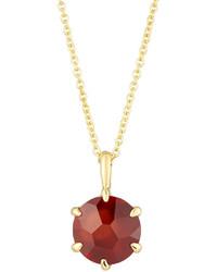 Ippolita Rock Candy 18k Round Garnet Pendant Necklace