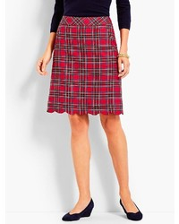 Plaid a line skirt medium 6869958