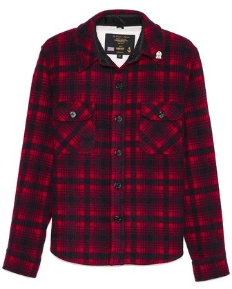 Gerald stewart by fidelity red plaid cpo overshirt where for Fidelity cpo shirt jacket