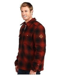 The North Face North Country 550 Fill Red Black Plaid Goose Down Jacket Coat