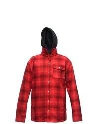 Sessions Outlaw Performance Shirt Softshell Jacket Red Plaid