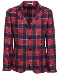 Red Plaid Blazer