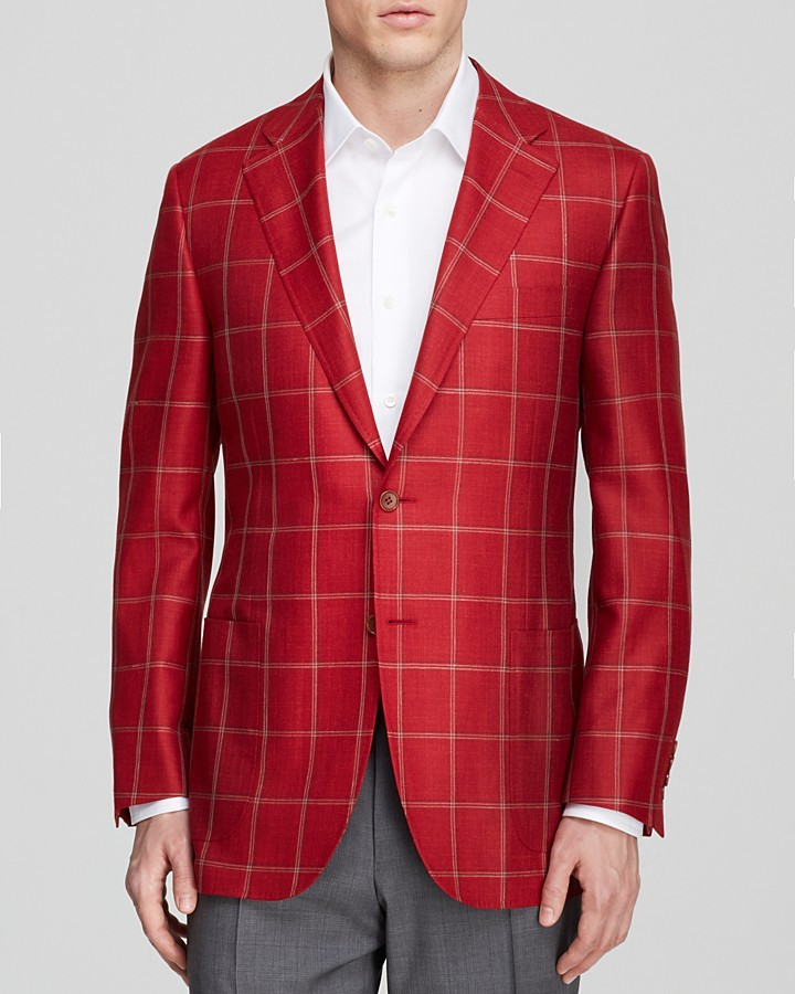 Canali Windowpane Plaid Sport Coat Classic Fit Where To