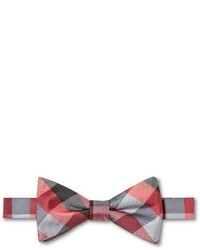 City Of London Red Color Tartan Bow Tie Red