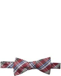 Countess Mara Watson Plaid Self Tie Bow Tie
