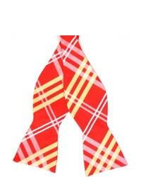 Skinny Tie Madness Plaid Skinny Bow Tie