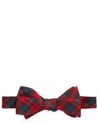 Tartan plaid bow tie red medium 18262
