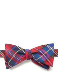 Chaps Tartan Plaid Self Tie Bow Tie
