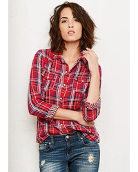 Casey gauze plaid blouse medium 345721
