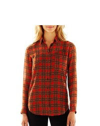 MNG by Mango Plaid Blouse