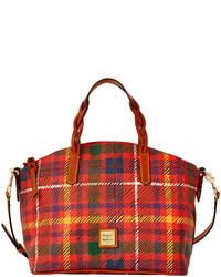 Red Plaid Canvas Tote Bag