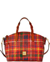 Dooney bourke tartan satchel medium 129252