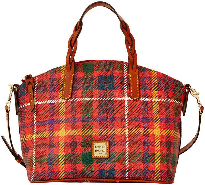 Plaid Canvas Tote Bags Dooney Bourke Tartan Satchel