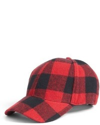 Buffalo Check Baseball Cap Black