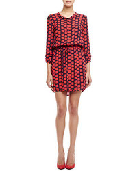 Splendid Windowpane Drawstring Shirtdress