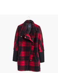 Madewell City Grid Coat In Plaid