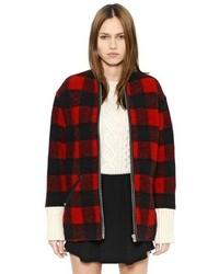 Etoile Isabel Marant Checked Boiled Wool Blend Coat