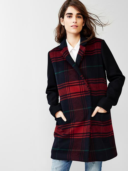Gap Festive Plaid Car Coat | Where to buy & how to wear