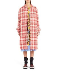 MSGM Fray Edge Tweed Coat