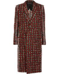 Haider Ackermann Paneled Wool Blend Tweed Coat