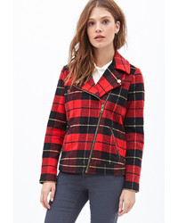 Forever 21 Plaid Moto Jacket