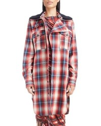 Removable collar plaid cotton jacket medium 8727378