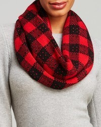 C by block plaid loop scarf medium 85204