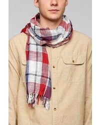 Urban Outfitters Picnic Plaid Fringe Scarf