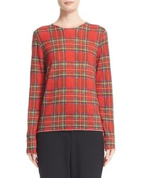 Plaid wool sweater medium 817564