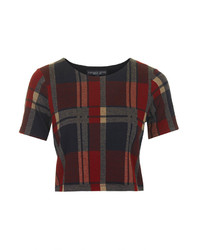 Petite blanket check tee medium 156455