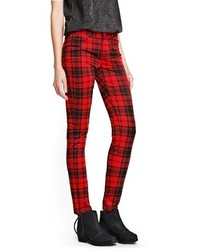Mango Outlet Plaid Elastic Trousers