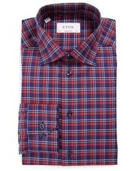 Eton Big Tall Contemporary Fit Plaid Dress Shirt