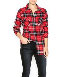 Ci Sono Plaid Flannel Shirt